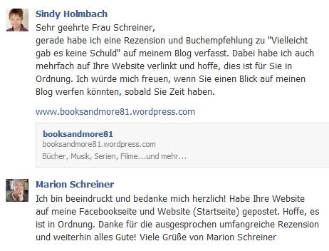 Antwort Marion Schreiner