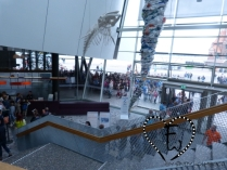 Auch die Eingangshalle war gut besucht...